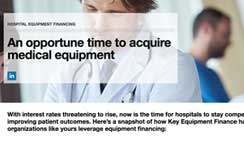 Medical equipment finance infographic