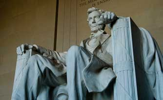 Abraham Lincoln statue in Federal building